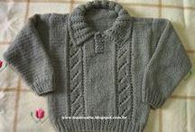 casaco de tricô infantil