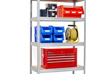 Garage Storage / Dexion UK's new range of galvanised and painted shelving suitable for garage storage. With shelf loads of up to 480Kg this is one of the strongest ranges of consumer shelving on the market.