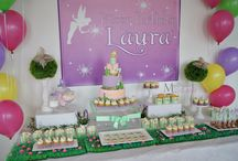 Tinkerbell Dessert/Sweet Table / Tinkerbell themed dessert/sweet table. Styling, sweets and pictures by Masterpiece Of Cake.