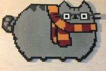 a Pusheen pixel art