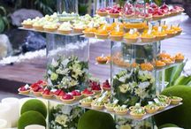 Wedding catering table