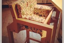 Wat er allemaal gebeurd / Design kinderstoelen bij mensen thuis