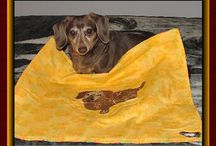 Dachsies With Moxie Tapetries, Quilts and More / Pet Portraits made by me and available on Etsy.com