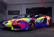 Rainbow cars / Funky cars