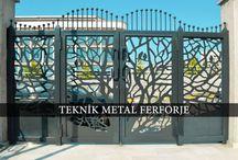 FERFORJE BAHÇE KAPILARI / Teknik Metal Ferforje tarafından üretilen Ferforje Bahçe Kapıları : Tüm çalışmalarımız www.ferforje.us 'ta