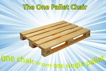 One pallets chair / Wooden chair