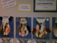Owl Art  / Owls made from scrapbook paper, pinecones, fabric, feathers and twigs.  So EZ but beautiful! http://pattiesclassroom.blogspot.com #Owl Art #Crafts