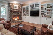 Albert basement tv/fireplace / Albert fireplace/TV