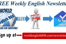 FREE weekly English newsletter!