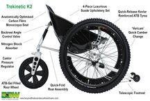 Trekinetic K2 (Manual Wheelchair) / The Multi award winning Trekinetic K2 is  designed to manage all terrains, giving you the freedom to be independent or join your friends and family on their outings to the beach, woods, muddy fields, or for a winters snow ball fight. Thanks to our Formula 1 heritage, the chair is so lightweight and easy to disassemble, it can be lifted and put into almost ANY car, without the need for a hoist, which means you have the freedom to choose the car you want and it doesn't have to be adapted.
