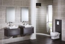 i-Line Modular Furniture From Utopia Bathrooms / Customise your bathroom furniture by teaming YOU modular cabinets with a striking 50mm frame.   Opt for a co-ordinating frame or a contrasting one to suit your own bathroom design.