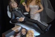 topos de bolo / Esculturas personalizadas para casamentos e outros momentos especiais em sua vida. Lembranças que ficam com você!