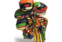 Clare Iles- multicolouredrawingsculptures / multicolouredrawingsculptures is an exhibition of new work by Clare Iles. She presented a group of brightly coloured sculptures under a low roof, creating an environment that invited the viewer to engage with the work on an intimate level.