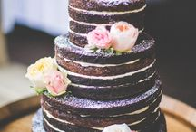 Choc naked wedding cake