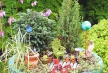 nature inspired crafts / miniature gardens and garden crafts