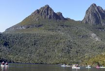 Kayaking - Dove Lake, Cradle Mountain. / Just myself and a group of like minded enthusiasts enjoying some sun, water and scenery on Dove Lake, Cradle Mountain, Tasmania - January 2014.