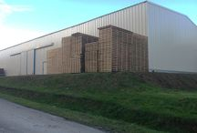 Bâtiment temporaire / Batiment temporaire démontable. Entrepôt de stockage, site logistique, atelier de production en location ou à la vente.
