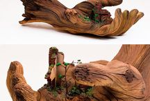 Wood & sculptures