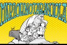MARZOLINO TARANTOLA / UN AVVENTURIERO IN GIRO PER IL MONDO: Marzolino, nobiluomo di stampo anglosassone, vaga per il mondo, dal Selvaggio West ad Atlantide, perennemente coinvolto in avventure di carattere fantastico, ricche di citazioni tratte dal genere avventuroso di fine Ottocento.