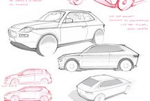 CARS ANGLES / Different Angled Sketches and Photos