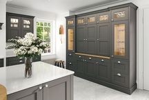 Kitchen Dressers and Larders / An available selection of Kitchen Dresser and Larders in a wide range of doors and colours.