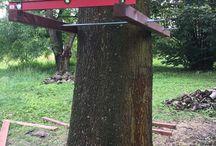 Domek na drzewie i tyrolka / Treehouse and zipline platform