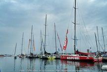 La Volvo Ocean Race fait escale à Lorient / Les VO65 sont à Lorient. Images EAllaire - www.ScanVoile.Com