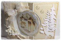 Vintage kerstkaarten / voorbeeld kaarten