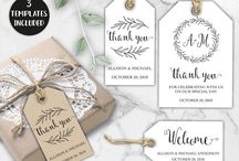 Thank you/ Welcome Cards / Editable - Printable Thank you, Welcome Tags