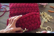 клатчи сумки вязанные