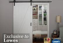 Lowe's Soft Close Barn Door Kit / Renin's ReliaBilt Soft Close Barn Door Kit is Exclusive to Lowes United States.