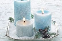 diy and crafts christmas candles centre pieces