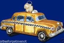 Cars, Trucks & Bikes / Go for a cruise down the road with Old World Christmas glass ornaments
