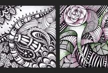 Meditation drawing-Meditációs rajz / meditáció, rajzolás, zentangle, rajtanítás, education, special education,