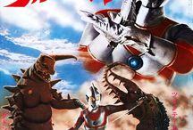 ウルトラマンと怪獣たち(とウルトラセヴンと宇宙人たち) Ultraman. Ultraseven and kaiju. aliens