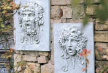 Garden Art Let's Face It / The eyes have it and this is where their faces are frowned. / by Ann Ayers