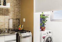 Separação de cozinha de lavanderia