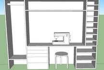 Nähmöbel und Nähwissen / Möbel für Aufbewahrung und Näharbeiten und verschiedene Tricks rund ums nähen