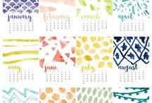 カレンダー 月別デザイン