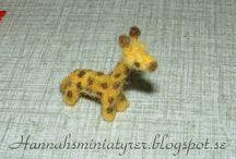 My needle felted animals / My miniature needle felted animals