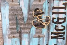 Corrugated iron and wood