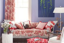 DECOR- working with a red couch