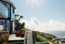 Gwel an Treth, Sennen Cove / Gwel an Treth is a stunning new palacial holiday home, perched in the cliff overlooking Sennen Cove, Cornwall.