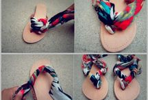 fabric flip flop craft