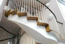 Architecture & Design - Glass, Ceramic & Walnut wood - My old renovation place / I changed an Old 70's rectangle foot print UK home substantially... see if you can spot the Phi in the staircase.. amongst the walnut wood. / by Francis Hunt