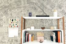 decorating interiors with maps