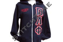 Pi Alpha Phi Fraternity  / Zip-up Sweatshirts, Lined Jackets , Stoles, and much more