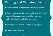 Free Knitting Designs for Spring / AllFreeKnitting and Red Heart Yarns free knitting designs for Spring!! / by Kim Reid
