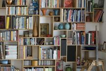 shelves / bookshelves, fabric shelves.... / by Tonya Ricucci