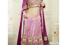 Attractive Pink And Wine Lehenga Choli